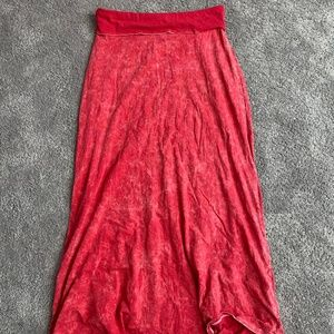 Comfy red maxi skirt